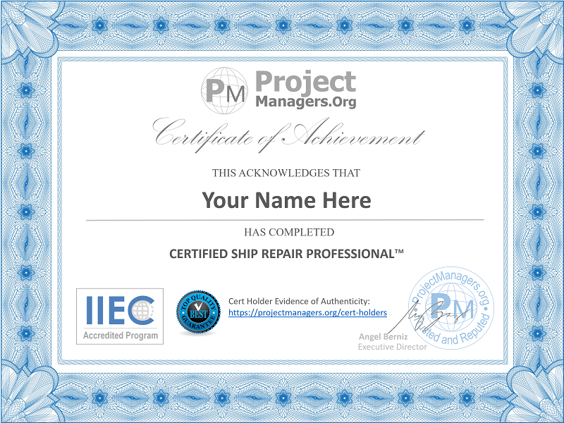 Certified Ship Repair Professional™ Certification Exam