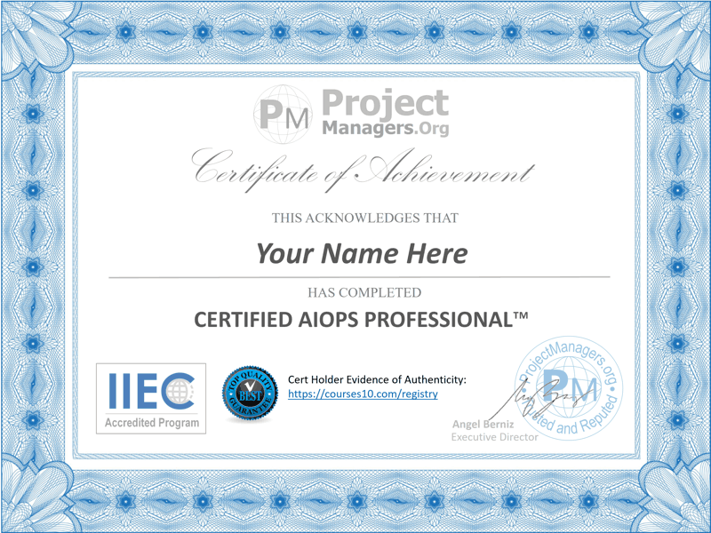 Certified AIOps Professional™ Certification Exam
